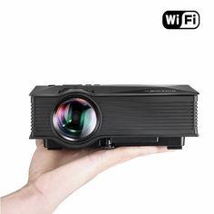 Vidéoprojecteur LED WiFi Portable,BlitzWolf Full HD Projecteur san Fil Projecteur de Vidéo Multimédia Home Cinéma avec Télécommande 1200 Lumens Entré USB/ SD/ HDMI/ AV/ VGA Comptable avec PC Portable/Smartphone pour ipad/iphone/Samsung/sony, conférence, formation, divertissement etc.