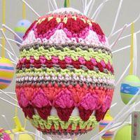crochet easter egg pink