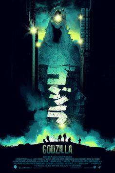 I don't know why I like this shit. I just do. Godzilla fan art. Patrick Connan