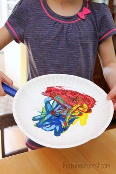 Preschool Art Activities ~ Magnet Painting- Tammy @ Housing A Forest- Preschool Art Activities, Preschool Arts And Crafts, Painting Activities, Process Art Preschool, Toddler Preschool, Kids Crafts, Science For Kids, Art For Kids, Summer Science