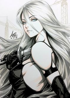 Yorha by Stanley Lau (Artgerm) - Anime and Manga World 2020 Art Anime Fille, Anime Art Girl, Manga Girl, Anime Girl Hot, Stanley Lau, Beautiful Anime Girl, Fantasy Girl, Fantasy Art Warrior, Cartoon Art
