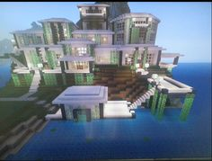 Modern Mansion With Boathouse - MCX360: Show Your Creation - Minecraft: Xbox 360 Edition - Minecraft Forum - Minecraft Forum