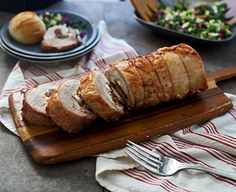 Created by: Nicole Leggio, Cooking for Keeps The holidays call for something special, something a little different, and this roast pork loin stuffed to the brim with salty prosciutto, dried figs and tangy goat cheese is just that. Easy to prepare and almost completely hands off, this will leave your guests impressed and their stomachs full.