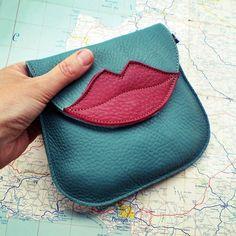 Handmade Leather clutch Purse Bag Jade and Berry by Fairysteps, £34.00. cute