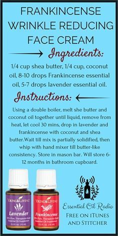 "Amazing Uses for Eucalyptus Oil DIY Dugout: ""Frankincense Wrinkle Reducing Face Cream""DIY Dugout: ""Frankincense Wrinkle Reducing Face Cream"" Essential Oils For Face, Essential Oil Uses, Doterra Essential Oils, Young Living Essential Oils, Yl Oils, Frankincense Essential Oil, Young Living Oils, Homemade Beauty Products, Lush Products"