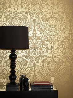 Buy Graham & Brown Desire Wallpaper, Mustard/Gold, 50-026 online at JohnLewis.com - John Lewis