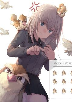♥ Girl... Blue Eyes... Short Hair... Pokémon... Pokémon GO!... Anime ♥