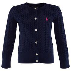 Ralph Lauren Navy Cable Knit Cardigan | AlexandAlexa