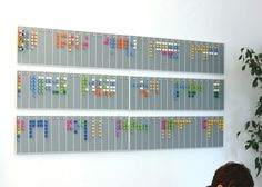 wall mounted LEGO office calendar