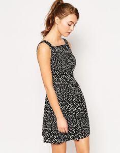 Image 1 ofWal G Polka Dot Pinafore Dress