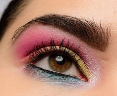 Here's a fun look I put together trying to come up with something colorful using Too Faced Life's a Festival Collection!