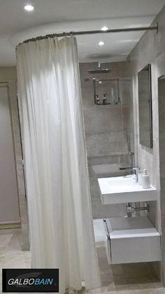 douche italienne quart de rond quip e avec une cabine de douche textile galbobain ba le. Black Bedroom Furniture Sets. Home Design Ideas