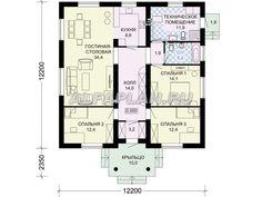 Одноэтажный дом с удобной планировкой (G85a), Alfaplan.ru
