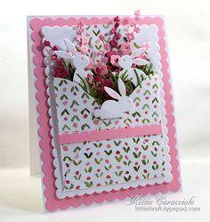 "IC528 Envelope Challenge on Splitcoaststampers.com ""Inspired Spring Bunnies"" - her inspiration was https://www.pinterest.com/pin/387591111661395476/"