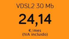 Gran oferta en la ADSL de Jazztel. 30 megas por 24.14€ al mes con el IVA incluido. Además es VDSL, ¡mucho mejor!