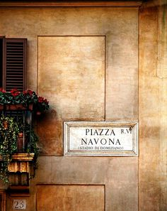 Piazza Navona - lovely area of Rome, Italy