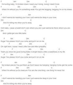 Maroon 5 - Sugar Chords Capo 1
