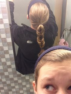 Easy fishtail. Put hair in ponytail then do basic fishtail. Cute, sporty look!