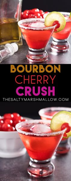 This cherry bourbon cocktail is the best Valentine's Day drink to share!