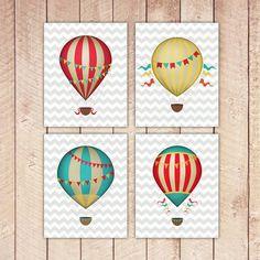 8x10 Printable Hot Air Balloon Nursery por PaperCanoePrintables, $15.00