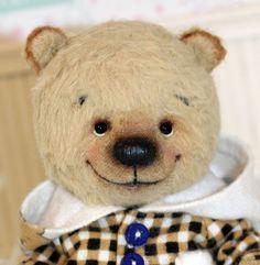 "Gavrik One of A Kind Happy Viscose Bear by Artist Elena Vinogradova 4 7"" | eBay"
