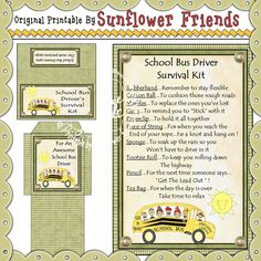 School Bus Driver Survival Kit **New