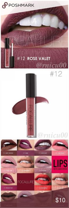 """🆕Fall Line! Matte Rose Valet Hot 10Hr Lipstick! A Long-wearing, liquid Lipstick that dries Matte with an intense color payoff! Lightweight formula infused with antioxidants & an exclusive complex to help maintain the lips hydration. One thin coat has Amazing transfer-free staying power! (shopfocallure.com)  ✔️Popular 5⭐️ Product, Sealed in Box ✔️""""Rose Valet"""" ✔️Cruelty Free, NO Parabens or Phthalates ✔️Pic's obtained Online   *NO TRADES *Prices are FIRM-Listed at Lowest Price Unless BUNDLED…"""