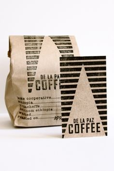 sweep me up (De La Paz Coffee packaging and identity, printed...)