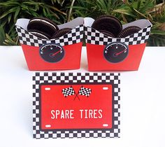 Race Car Party Spare Tires Snacks   Printable Template