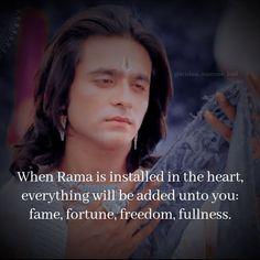 Siya Ke Ram, Sony Tv, Sweet Words, Hinduism, In The Heart, Mythology, Everything, Freedom, Lord