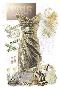 """Happy New Year!"" by flattery-guide ❤ liked on Polyvore featuring Universal Lighting and Decor, Vivienne Westwood Gold Label, Dsquared2, Nearly Natural, Mother, Michael Antonio, Kate Spade, women's clothing, women and female"