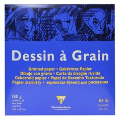 Dessin à Grain White Grained Drawing Paper 30 Sheets. Thanks to its light grain, the colours adhere very well to give depth. Paper Manufacturers, Drawing Letters, Very Well, Drawing Sketches, Grains, Lettering, Sketchbooks, Artists, Ebay