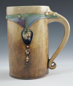 Art+Deco+Mug+by+CarolLongPottery+on+Etsy