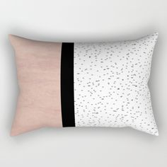 "Pink marble and dots Rectangular Pillow by ARTbyJWP #cushion #throwpillow #pillow  _______________  Our Rectangular Pillow is the ultimate decorative accent to any room. Made from 100% spun polyester poplin fabric, these ""lumbar"" pillows feature a double-sided print and are finished with a concealed zipper for an ideal contemporary look. Includes faux down insert. Available in small, medium and large."