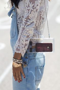 Cute little see though bag