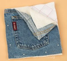 How to sew potholders and mitts from denim jeans