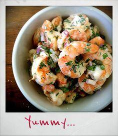 roasted shrimp salad based on ina gartens recipe - Ina Garten Shrimp Salad Recipe