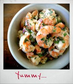 Roasted Shrimp Salad (based on Ina Garten's recipe)