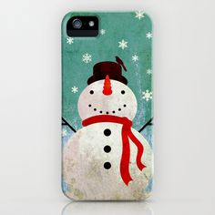 snowpy christmas iPhone Case by Steven Toang - $35.00