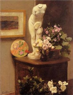 Still Life with Torso and Flowers - Henri Fantin-Latour