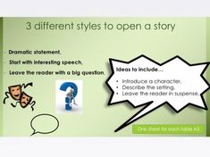 Amazing Story Openers - Writing Lesson Ks2 English, Primary English, English Writing, Group Activities, Writing Activities, Teaching Resources, Writing Lessons, Writing Skills, Alex Rider