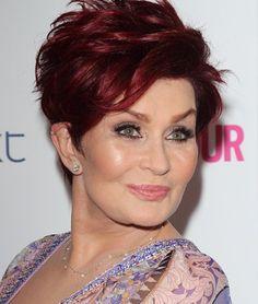 Short Celebrity Hairstyles for Women Over 60-Sharon Osbourne