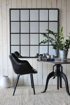 Crittall Window Style Mirror. Rocket St George. 120 x 120cm. £395 + £25.95 delivery. Something like this would suit the dining room.
