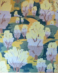 Raoul DUFY (1877-1953) Poplars in the fields, N/D Dessin-Aquarelle