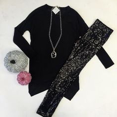 Going to a monster mash? Wear this and you'll look a graveyard smash  #themill #shopthemill #milldoll #halloween #monstermash  Black angled shirt S|M|L $28 Black sequin leggings S|L $36 Black druzy necklace $64 And don't forget we're celebrating with 20% all clothes! by shopthemill