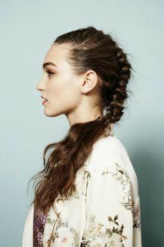 edgy, yet romantic braid #hair #hairspiration