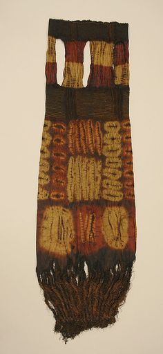 Africa   Woman's Prestige Garment from the Dida peoples of southern Ivory coast   Raffia palm fibre and vegetal dyes   20th century