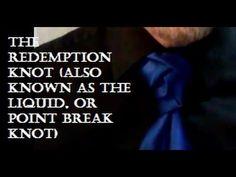 The Redemption Knot (also known as the Liquid or Point Break Knot) Necktie Knots, Tie A Necktie, Cool Tie Knots, Mens Hottest Fashion, Point Break, Neck Ties, Boys, Art, Ties