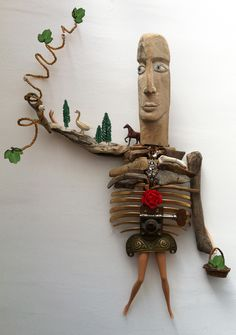 The Princess. Sculpture by Catherine Phelps #assemblage #sculpture #foundart #chatelaine