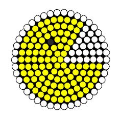 Pacman Fuse Bead Perler Bead Pattern | Bead Sprites | Characters Fuse Bead Patterns